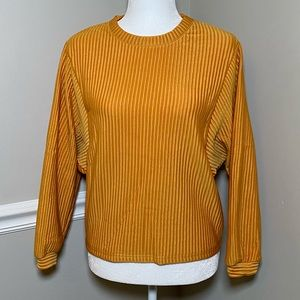 Gold Ribbed Sweater